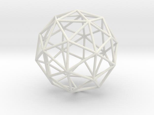 PentakisDodecahedron 70mm in White Natural Versatile Plastic