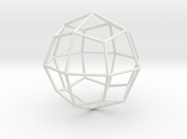 DeltoidalIcositetrahedron 70mm in White Natural Versatile Plastic