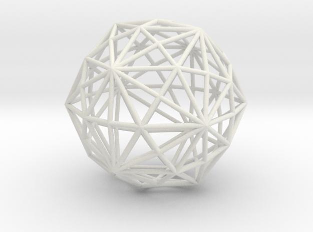 DisdyakisTriacontahedron 70mm in White Natural Versatile Plastic