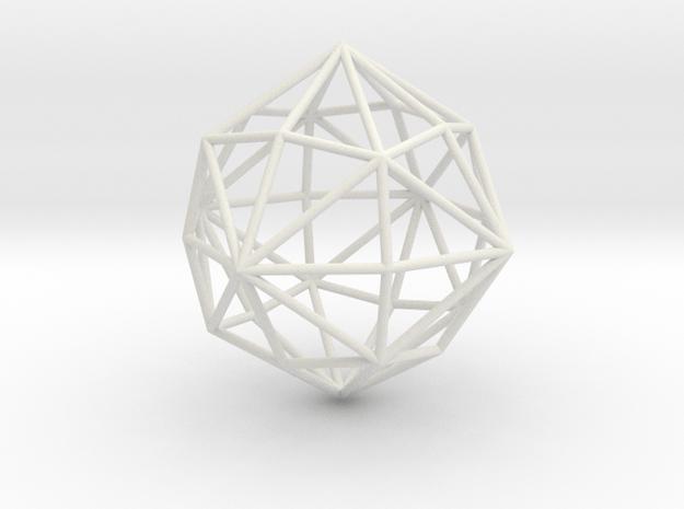 DisdyakisDodecahedron 70mm in White Natural Versatile Plastic