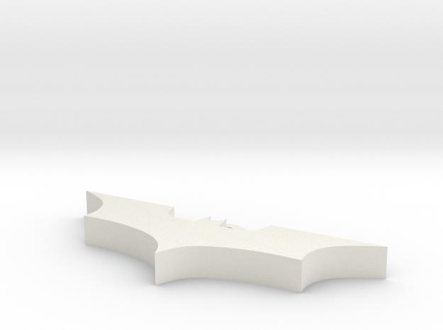 Batman Pendant in White Natural Versatile Plastic