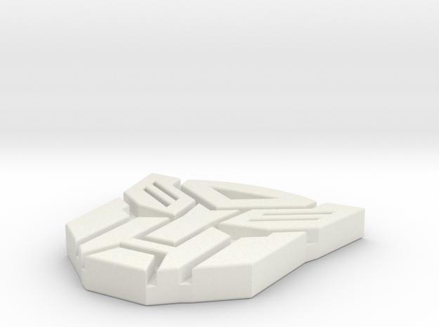 Autobots Pendant in White Natural Versatile Plastic