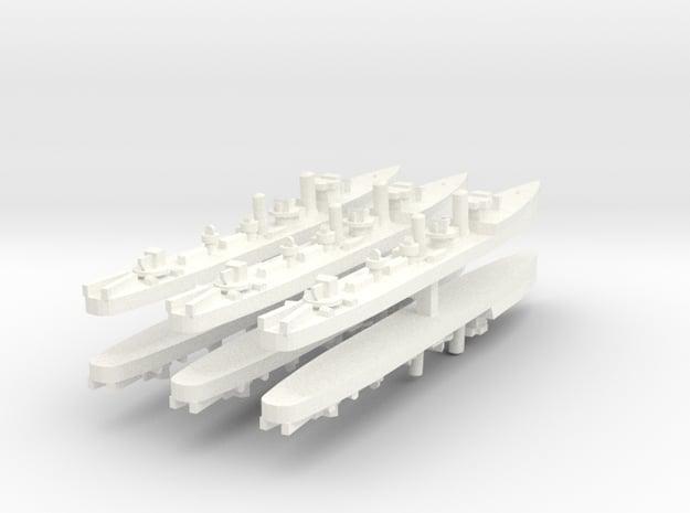 Admiralty S Destroyer (Std) 1:1800 x6 in White Processed Versatile Plastic
