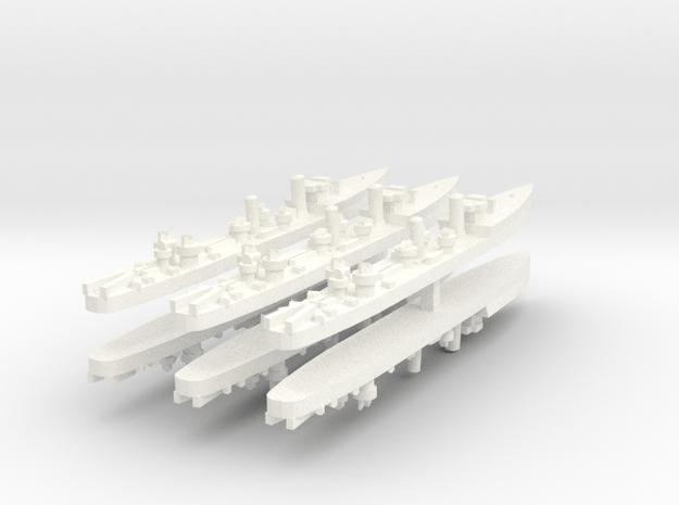Admiralty S Destroyer (SRE) 1:1800 x6 in White Processed Versatile Plastic