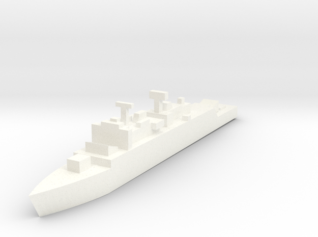 Royal Navy, County Class Batch 2 in White Processed Versatile Plastic