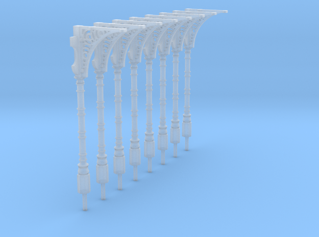 8 '00' scale GER canopy support columns in Smooth Fine Detail Plastic