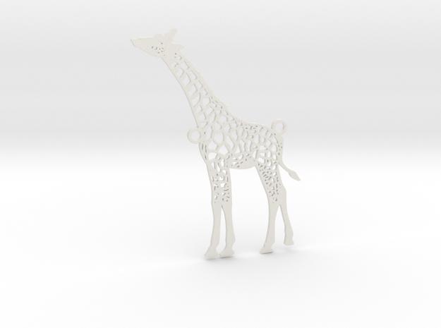Wildlife Treasures - Giraffe in White Natural Versatile Plastic