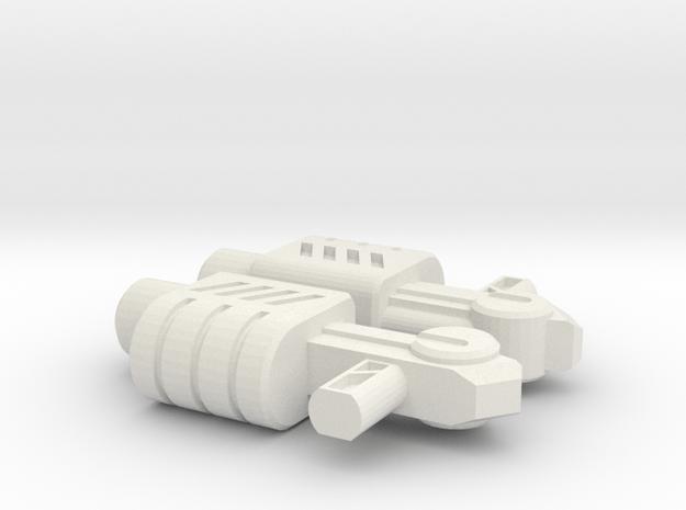 Handguns Production Version in White Natural Versatile Plastic