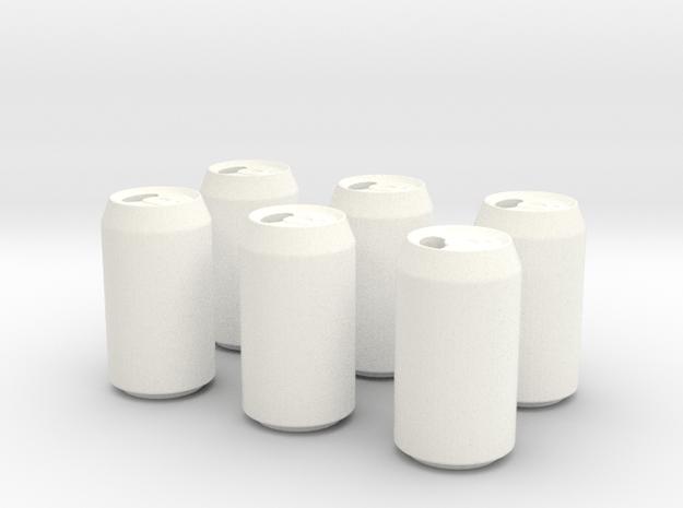Soda Pack in White Processed Versatile Plastic