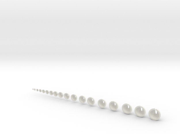 Joint Collection .6cm to 4cm (approx) in White Natural Versatile Plastic