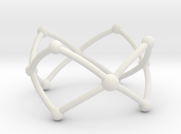 Frustrated Chain ring in White Natural Versatile Plastic