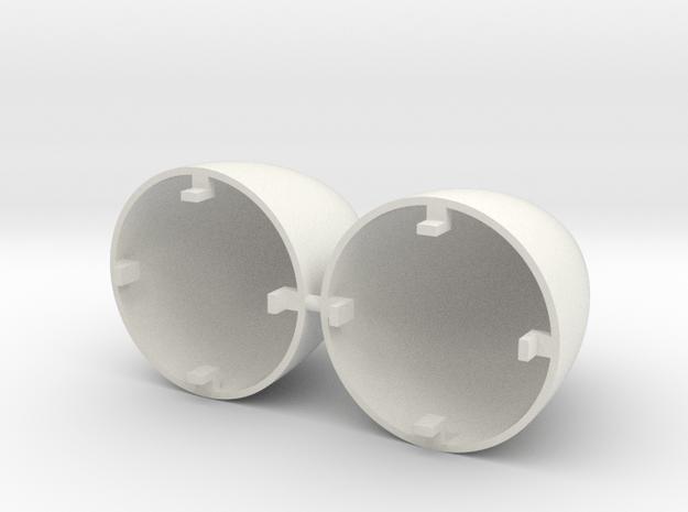 Falcon Heavy Nose Cones in White Natural Versatile Plastic: 1:144