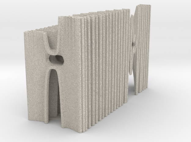 The Hybrid Cathedral - Tessellate A+D in Natural Sandstone