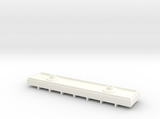 Metropolitan 'Rigid 8' Test Chassis/Interior Block in White Processed Versatile Plastic