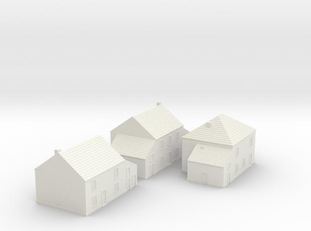 1/350 Village Houses 1 in White Natural Versatile Plastic