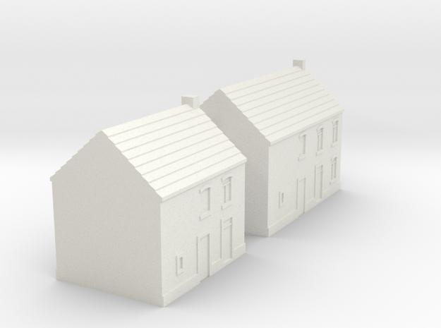 1/350 Village Houses 7 in White Natural Versatile Plastic