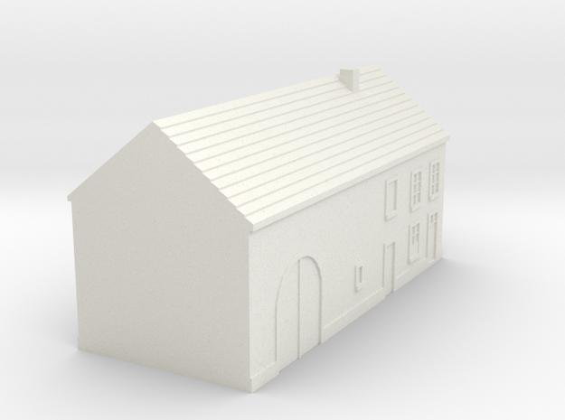 1/350 Barn House 4 in White Natural Versatile Plastic