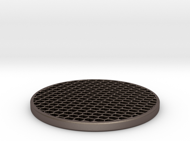KillFlash-HoneyComb-40mm in Polished Bronzed Silver Steel