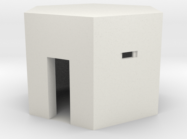 Type 22 Pillbox 4mm scale in White Natural Versatile Plastic