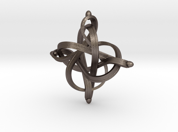 Infinity in Polished Bronzed Silver Steel
