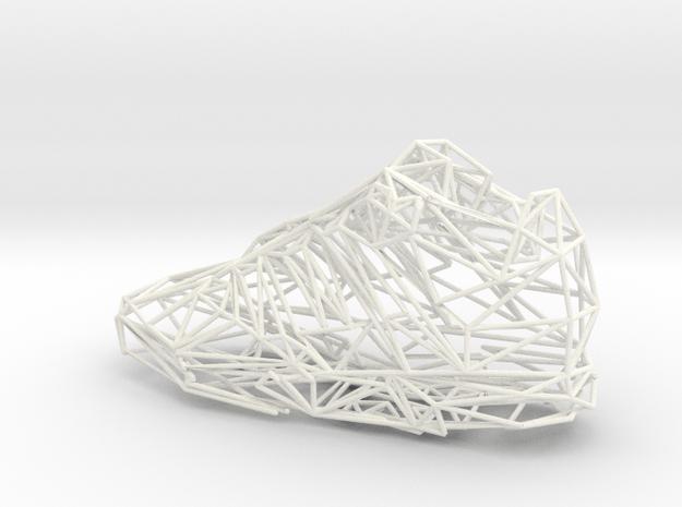 Shoe in White Processed Versatile Plastic