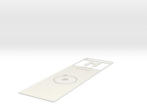 Elemental Bookmark in White Natural Versatile Plastic