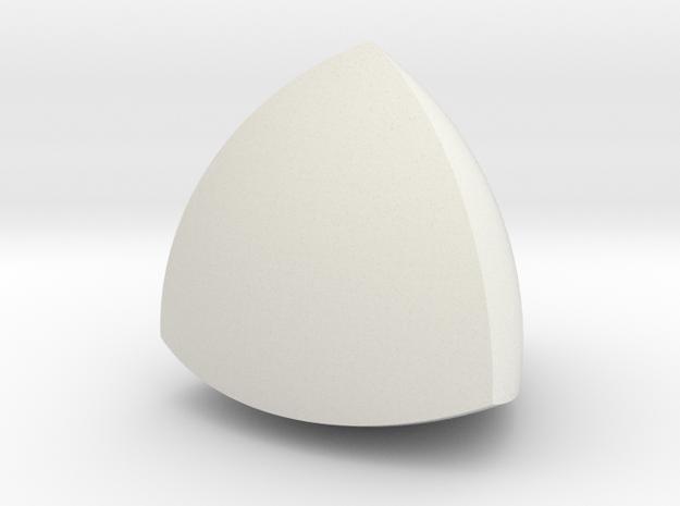 Reuleaux Tetrahedron solid in White Natural Versatile Plastic