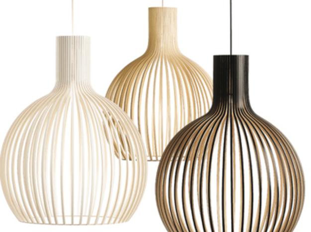 Lampshade (ceiling) see through, 1:12 in White Processed Versatile Plastic