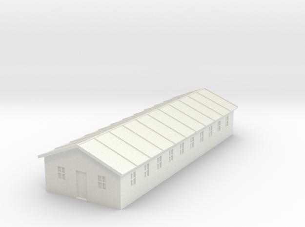 1/350 Barracks 4 in White Natural Versatile Plastic