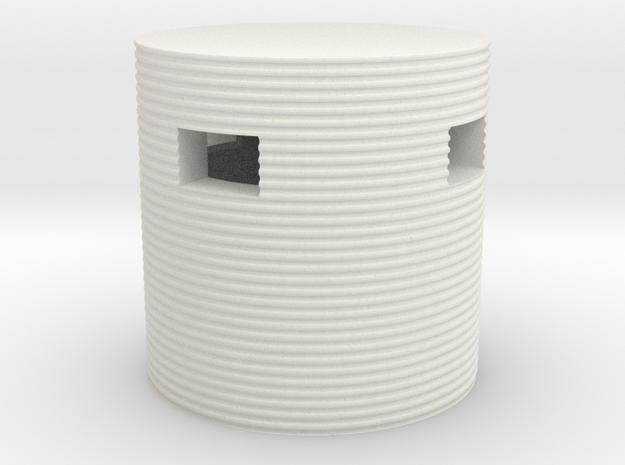 Type 25 Pillbox 4mm Scale in White Natural Versatile Plastic