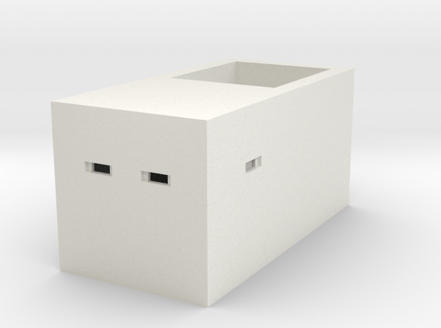 Type 23 Pillbox 4mm Scale in White Natural Versatile Plastic