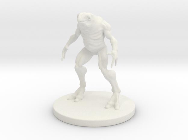 1 Inch Frog-like Man in White Natural Versatile Plastic