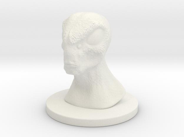 1 Inch Alien 1 in White Natural Versatile Plastic