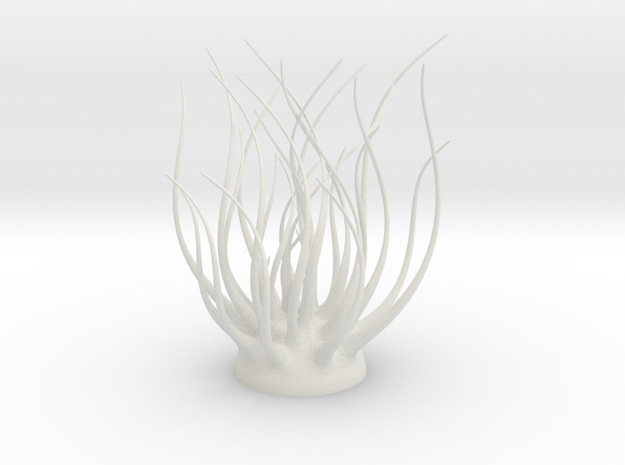 6 Inch Twisted Spires in White Natural Versatile Plastic