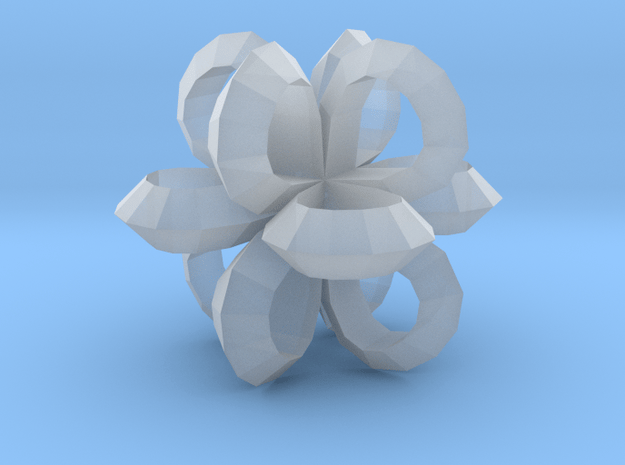1 Inch Loop Cube ( Low Poly ) in Smooth Fine Detail Plastic