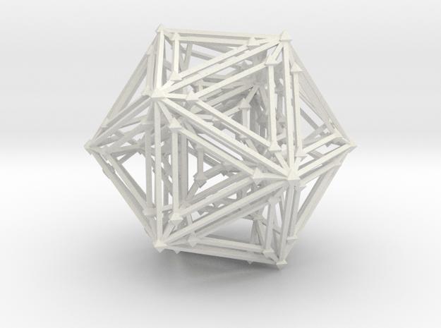 Atomic Icosa in White Natural Versatile Plastic