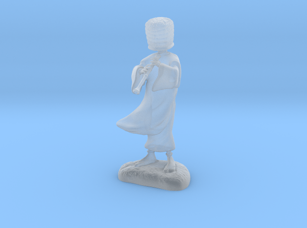 Komuso monk in Smooth Fine Detail Plastic