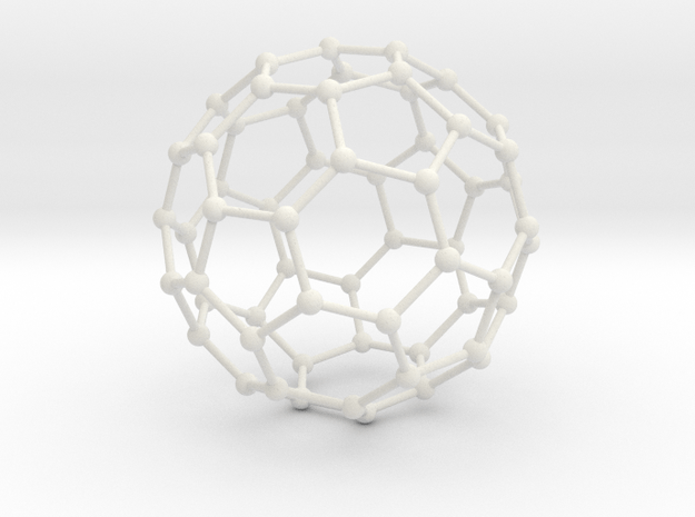 Bucky Ball Wire Frame in White Natural Versatile Plastic