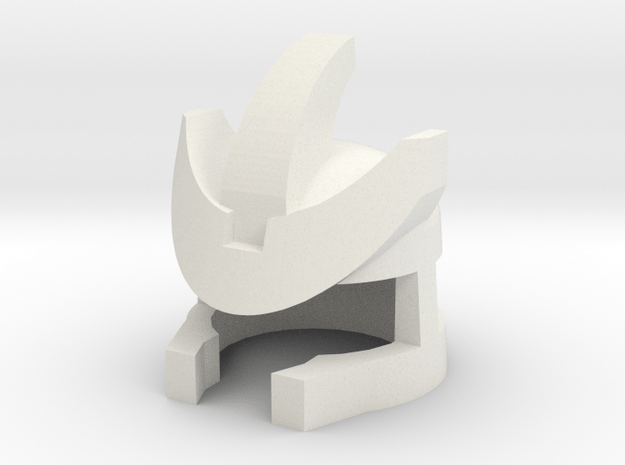 Mad Tyrant Robohelmet: v.3 in White Natural Versatile Plastic