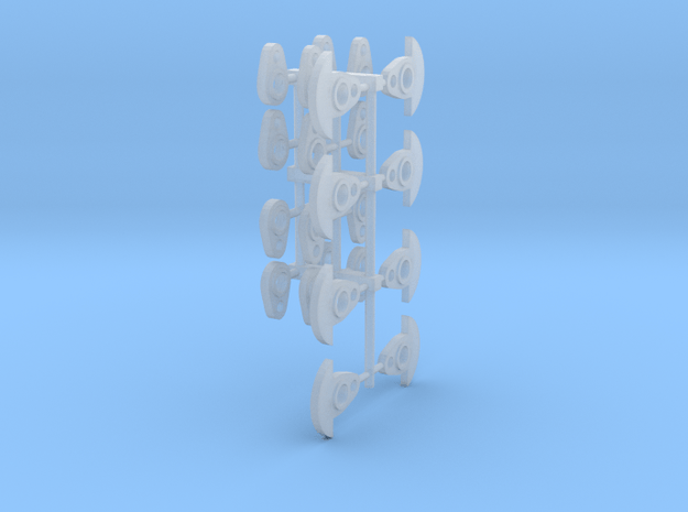 Outside cranks for 1 5mm axles in Smooth Fine Detail Plastic