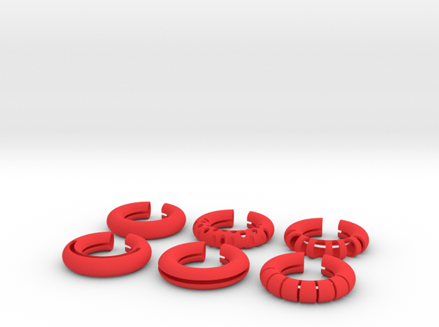 Wine Rings 20 7 in Red Processed Versatile Plastic