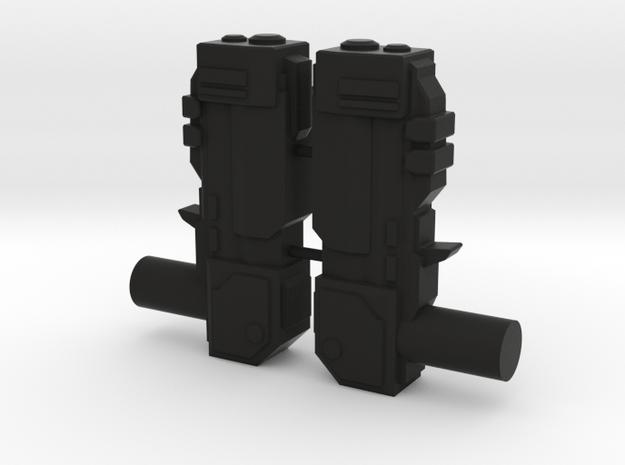 Tempest Dual Blasters in Black Natural Versatile Plastic