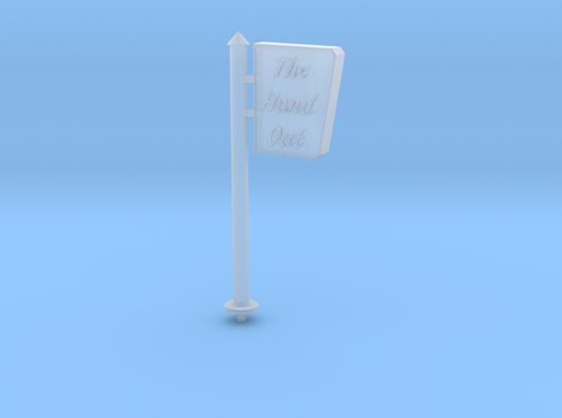 HO-Scale Drive-In Sign in Smooth Fine Detail Plastic