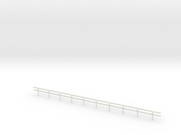 N-Scale Wood Guard Rail in White Natural Versatile Plastic