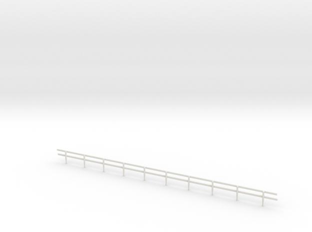 HO-Scale Wood Guard Rail in White Natural Versatile Plastic