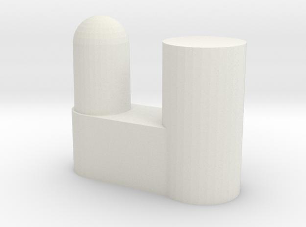 IKEA Bardu plastic wardrobe wheel holder in White Natural Versatile Plastic