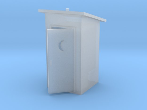 HO-Scale Slant Roof Outhouse in Smooth Fine Detail Plastic