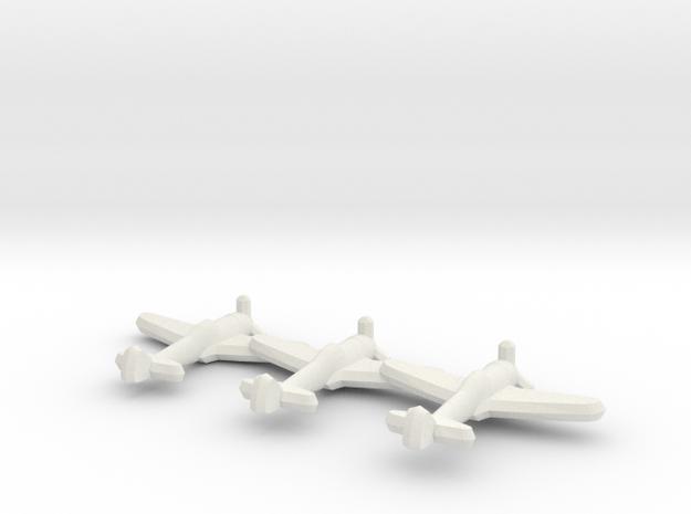 Ki-44 Tojo (Triplet) 1:900 in White Natural Versatile Plastic