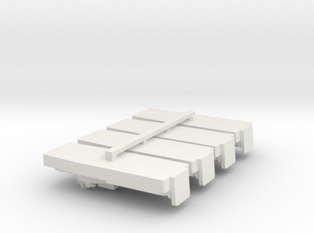 1/700 Vietnam ATC x 4 off in White Natural Versatile Plastic