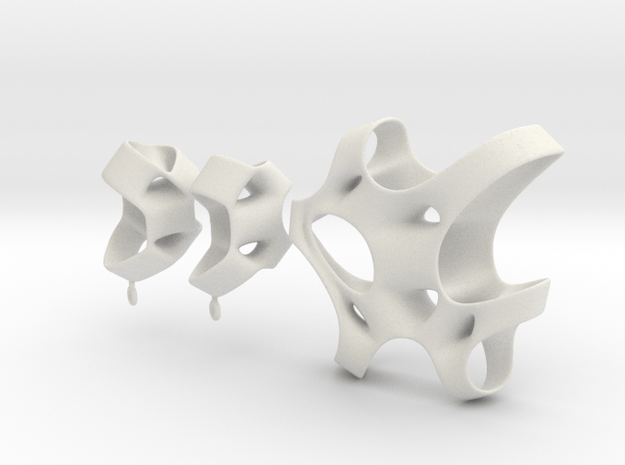 Sponge Collection - Earrings in White Natural Versatile Plastic